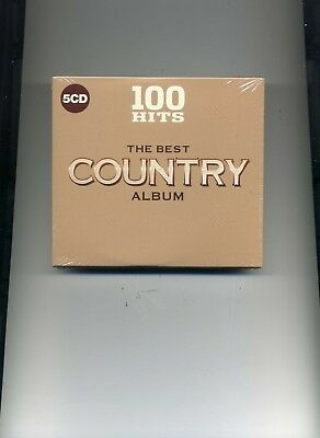 100 Hits - The Best Country Album - Jim Reeves Dolly Parton - 5 Cds - New!!
