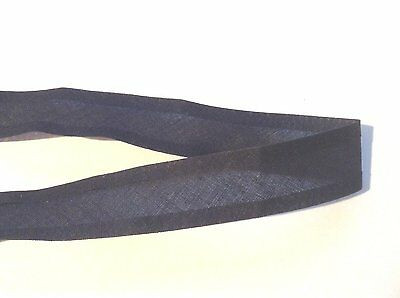 2m x 25mm Plain Black cotton Bias Binding tape for Crafting and Dressmaking.