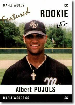 10-Ct Lot ALBERT PUJOLS Rookie Cards WHITE Maple Woods CC Away RCs