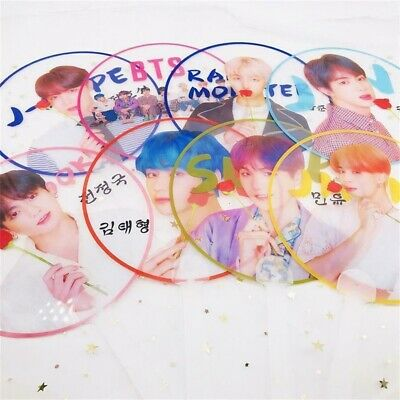 Portable Mini Hand Fan Kpop BTS Map of The Soul Bangtan Boys Transparent PVC Fan