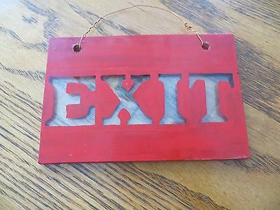 reverse thick heavy warning glass exit company sign