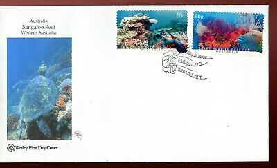 2013 Australian Coral Reefs (2 x 60c Booklet Stamps) Wesley FDC