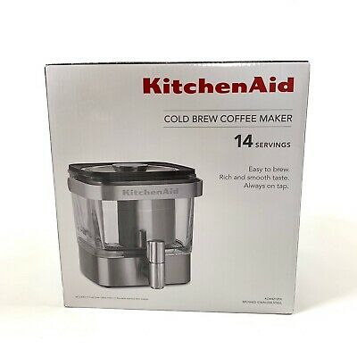 Kitchen Aid Cold Brew Coffee Maker Brushed Stainless Steel 14 Servings KCM4212SX