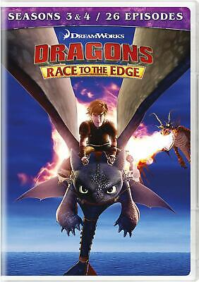 Dragons Race to the Edge Seasons 3 & 4 DVD NR BEST SELLING Kids & Family NEW