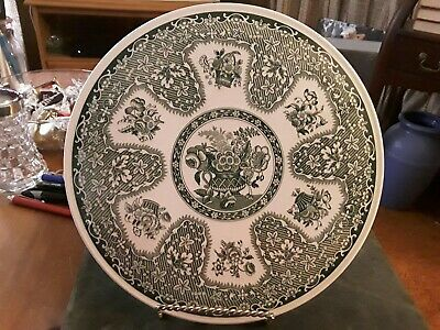 """Vintage Spode Archive Collection """"Floral"""" Cake Plate or Trivet Green Footed"""