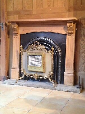 SALE Rustic Pine Fire Surround Fireplace for Renovation