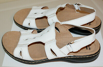 7084b976ff83 Women s 8.5 Wide Clarks Leisa Lakelyn White Slingback Shoes Sandals 8 1 2  NEW