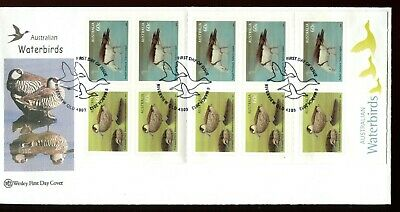 2012 Australian Waterbirds (10 x 60c Stamp Booklet) Wesley FDC