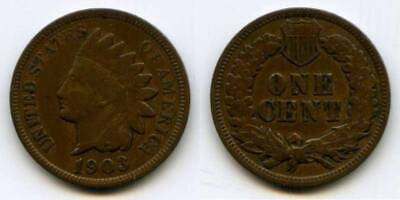 Beautiful 1903 Nicely Toned Indian Head Small Cent VF++
