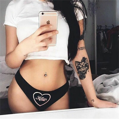 Funny Letter Sexy Lingerie G-string Briefs Underwear Panties Thongs Knickers
