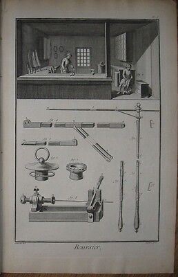 "1765 DIDEROT - Set of 3 Engravings - ""BOURSIER"" - Umbrellas, Purses & Breeches"
