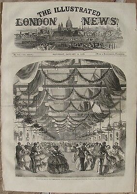 1859 Two Large Engravings - Royal Artillery Schools, Woolwich - Children's Fete