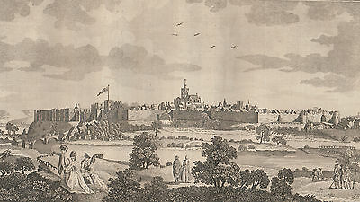 """1779 Large Antique Engraving - """"Prospect of the City of Carlisle in Cumberland"""""""