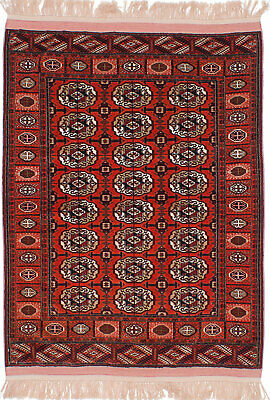 "Hand-knotted Russian Carpet 4'5"" x 6'1"" Shiravan Bokhara Traditional Wool Rug"