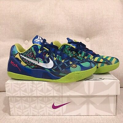 super popular e68b6 11533 Nike Kobe IX EM Brazil World Cup Game Royal White Venom Green Size 9 Mens