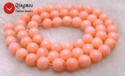 """5mm Round Pink Natural Coral Loose Beads for Jewelry Making DIY Strand 15""""-l594"""