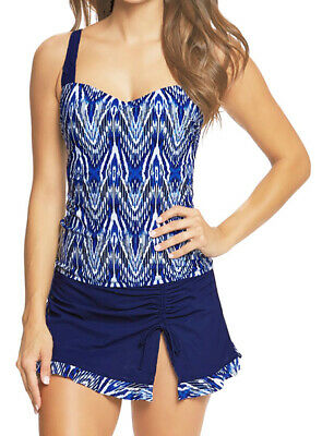 PROFILE BY GOTTEX Blue Tidal Wave Flyaway One Piece Swimsuit