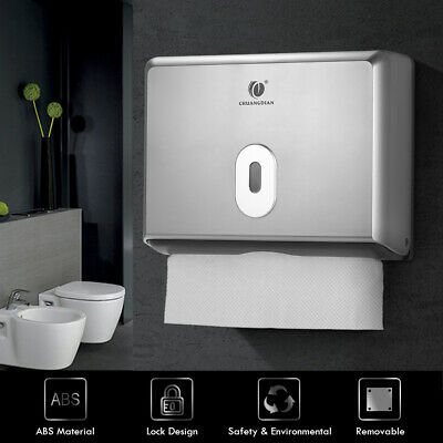 CHUANGDIAN Wall-Mounted Tissue Dispenser Box Holder Multifold Paper Home Q1T7