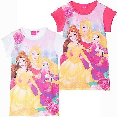 Disney Princess Girls Lightweight 100% Cotton Nightdress Nightie Pyjamas 2-6 Yrs