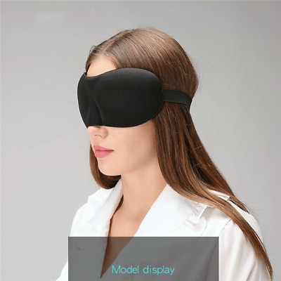 3D Soft Padded Blindfold Blackout Eye Mask Travel Rest Sleep Aid Shade Cover HZ