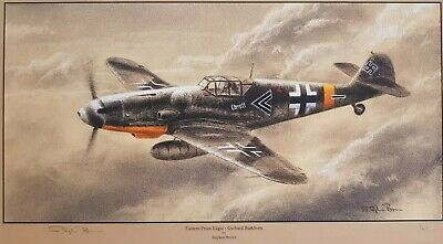 Nic Trudgian Luftwaffe Fw190 print Snow Warriors signed by a JG54 fighter pilot