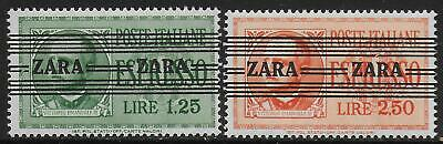 German Occupation ZARA stamps 1943 MI 37-38 signed LudinBPP MNH VF