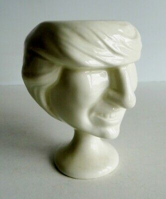 RARE 1980's CARLTON WARE SPITTING IMAGE LADY DI / DIANA SPENCER CERAMIC EGG CUP