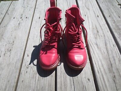 Doc Martens ~ Girls Pink Boots ~ Size 1