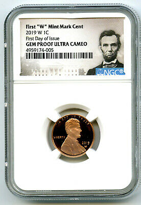 2019 W Lincoln Ngc Gem Proof First Day Issue Cent W/ Us Mint Envelope & Insert