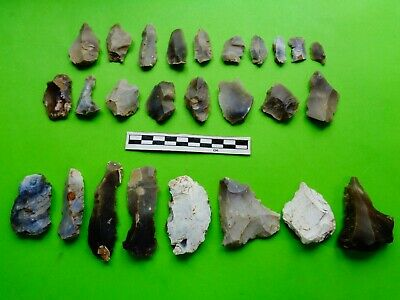 Group of Flint Tools (Y) ; Mesolithic/Neolithic;recent finds from Dorset -Look!