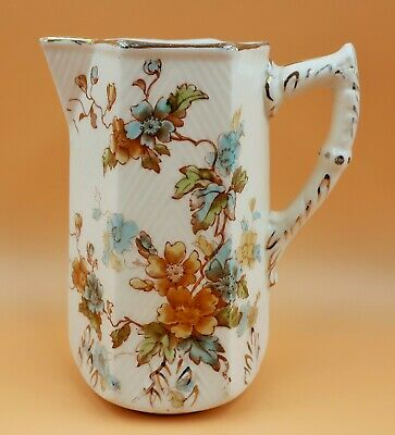 Antique c1891 SF & Co Pottery, England Lynn design large jug / pitcher. No. 983.