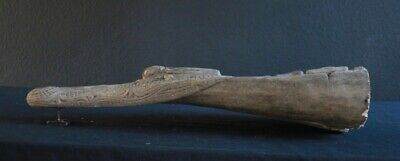 Old And Used Crocodile Canoe Head From The Sepik River In New Guinea