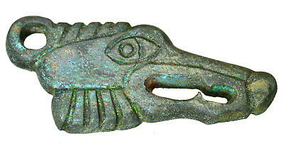 Viking Bronze Wolf's Head Attachment
