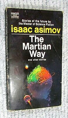 1955 Isaac Asimov The Martian Way etc Fawcett Crest Vintage Paperback FREE S/H