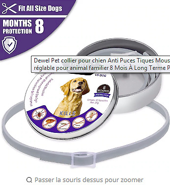 New Dewel orginal Flea Tick protection Collar for Large Dogs dogs 8 Month