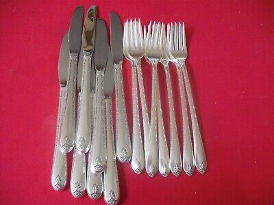 (16) Rogers IS Silverplate Flatware Pieces Knives & Forks, 1940 Exquisite  #18