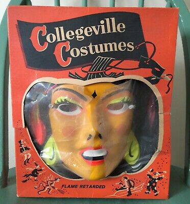 Vintage Halloween Costumes In A Box.Vintage Halloween Costume By Collegeville Gypsy Woman W Original Box