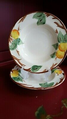 """Franciscan Ware England  """"peach Tree""""  Set Of (2)  Soup Bowls  8 1/8"""""""