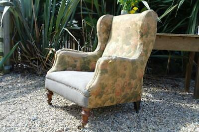 Antique Victorian Wingback Armchair By Cornelius V Smith English Country Classic