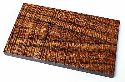 Exhibition Grade Old Growth Fiddlebacky Koa Knife Scales, Stabilized   SCL7730