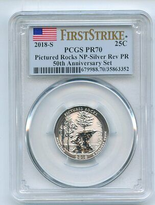 2018 S 25C Silver Reverse Proof Pictured Rocks Quarter PCGS PR70 First Strike