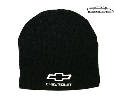 0bd188f69db Hat - Chevrolet Cuffless Knit Beanie W Embroidered Logo Black FREE SHIPPING