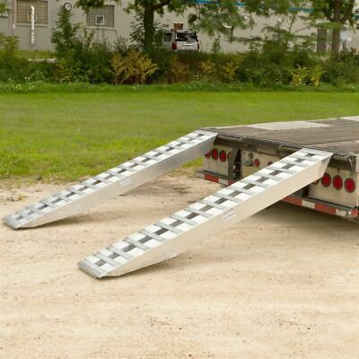 """8' x 16"""" Step Deck Trailer Ramps 20,000 lb Double Pin-On Ends 20-16-096-02-02-L"""