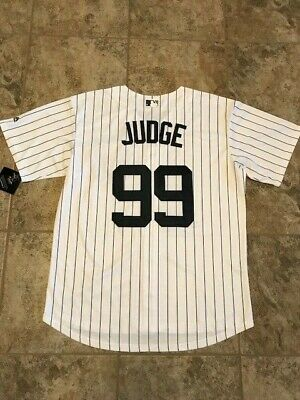 innovative design 957b7 c4a3b AARON JUDGE #99 New York Yankees Pinstripe Cool Base Men's Jersey Size Large