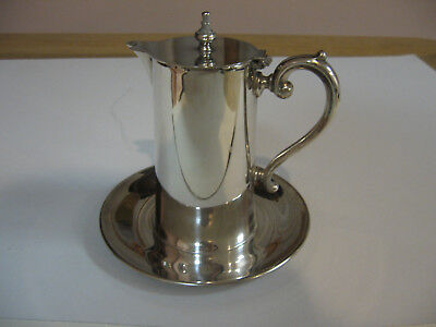 Vintage Wallace Silverplate Syrup Pitcher w/Underplate #617
