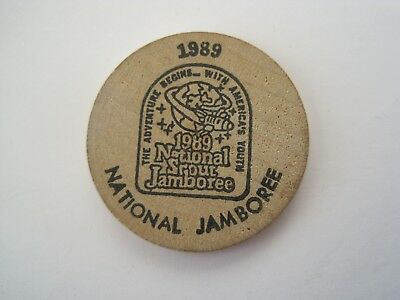 Boy Scout 1989 National Jamboree Tidewater Council VA NC Wooden Nickel