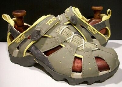adec6202d Teva Deacon Mermaid Olive yellow Trail Hiking Sport Sandals 9M 40  6969 Euc