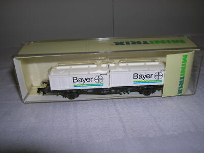 N Scale Neuf Model Railroads & Trains Minitrix 15518 Wagon De Containeur Db Avec 3 Inno Freight Conteneurs