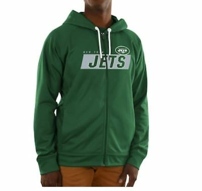 cb8d99ef06c0  75.00 ~ NWT Mens Green NY New York Jets Game Elite Hoodie Jacket ~ Size  Large