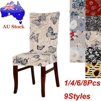 4/6/8pcs Stretch Chair Covers Banquet Dining Slip Seat Covers Slipcover Decor